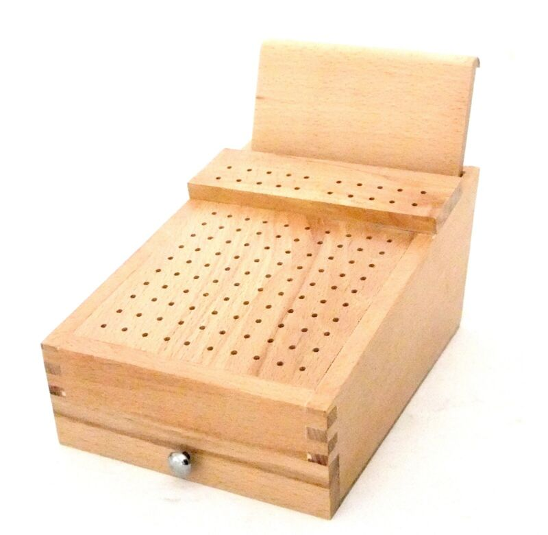 120 Hole Organizer For Burs, Needle Files, Etc With Draw And Plier Rack
