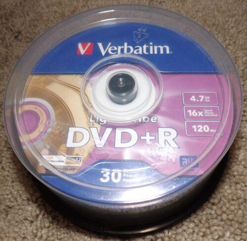 Verbatim Lightscribe DVD+R 26 of 30 Pack 4.7GB 16x Speed 120 Min RW