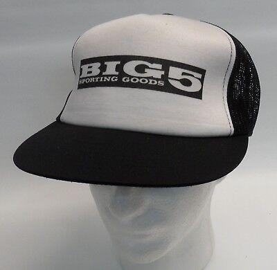 Big 5 Sporting Goods Mesh Trucker Snapback Hipster Retro Baseball Cap Hat Logo