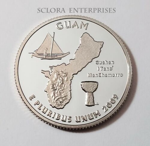2009 S GUAM *90% SILVER PROOF* QUARTER   **FREE SHIPPING**