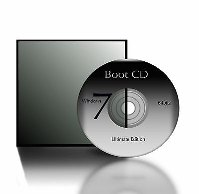 Compatible W  Windows 7 Ultimate Edition 64 Bit Boot Cd System Restore Recovery