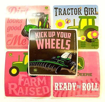 15 John Deere Farm Fun Tractor Girl Stickers Party Favors Teacher Supply  - Tractor Favors