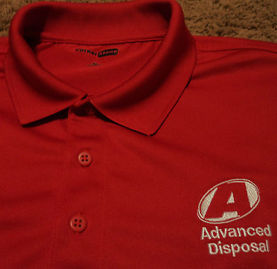 Advanced Disposal Trash Garbage Recycling Service Removal Uniform Polo Shirt Xl