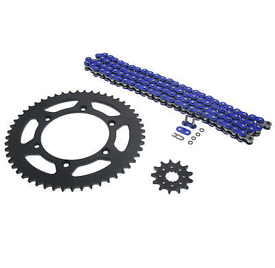 2003-2004, 2007-2014 Yamaha YZ450F Blue O Ring Chain & Sprocket Black 13/52 120L