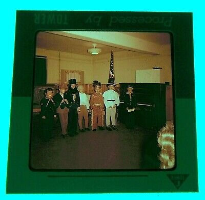Vintage Amateur Snapshot 127 Slide Film Kids School Classroom Halloween Costume