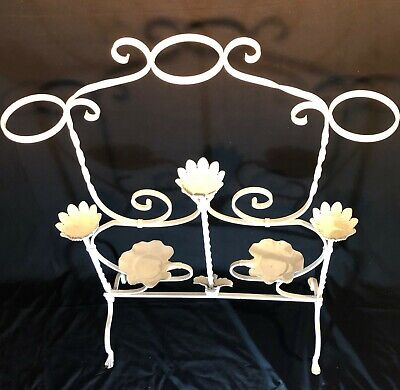 Antique Ornate Victorian Cast Iron 5-tier Retail Display Rack Or 8 Plant Stand