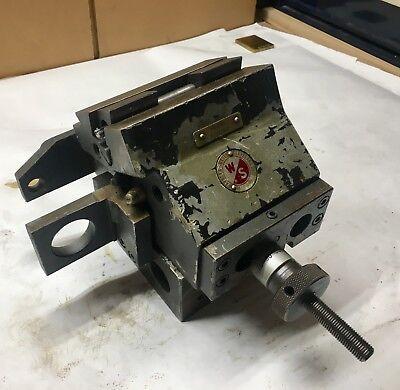 Warner Swasey Lathe Turrent Slide Tool Holder - M-4395 - Adjusting - Clean