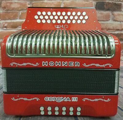Hohner Corona III Emiliano Zuleta Accordion BbEbAb BEsAs Cinco Letras Acordeon