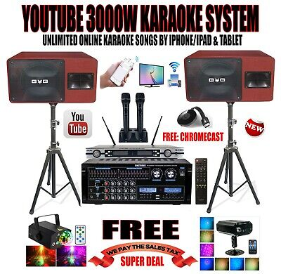 Complete Professional Karaoke - YOUTUBE PROFESSIONAL 3000W COMPLETE KARAOKE SYSTEM IPHONE/IPAD & TABLET