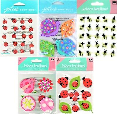 Ladybug Stickers (U CHOOSE Jolee's Stickers COLORFUL SNAILS - LADYBUGS & FLOWERS - BEES)