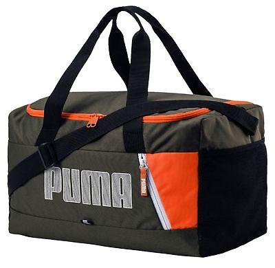 4db0eac64c95f PUMA Fundamentals Sports Bag Graphic S II Sporttasche Forest Night Grün