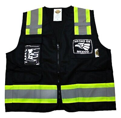 Safety Vest Type R Class 2 Mexico With Pockets Color Black