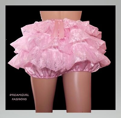 SATIN AND LACE RUFFLE KNICKERS ,TV,SISSY LOLITA FRILLY - Kostüme Knickers