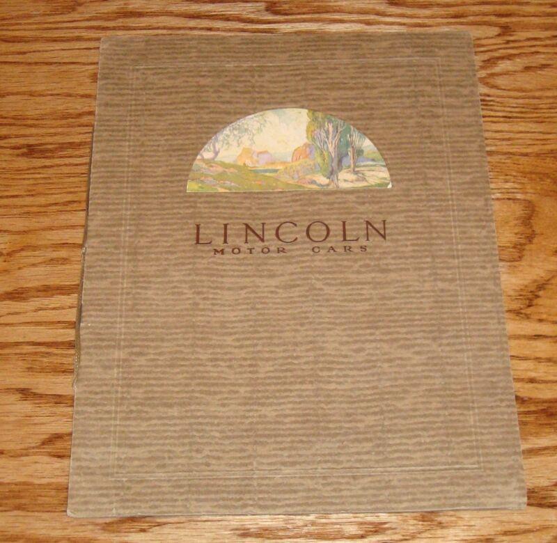 Original 1924 Lincoln Motor Cars Deluxe Sales Brochure 24