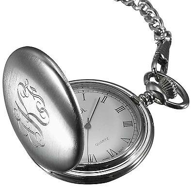 Personalized Visol Chrome Finish Quartz Pocket Watch, Fre...