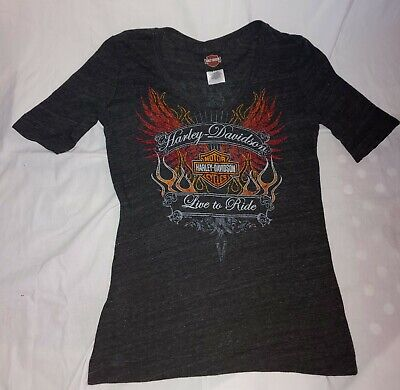 2012 Harley Davidson of UAE Women's S/S Shirt M- Dubai United Arab Emirates image