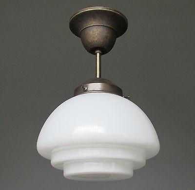Schöne alte Emaillampe Art Deco Hängelampe Bar Küche Industriedesign Lampe