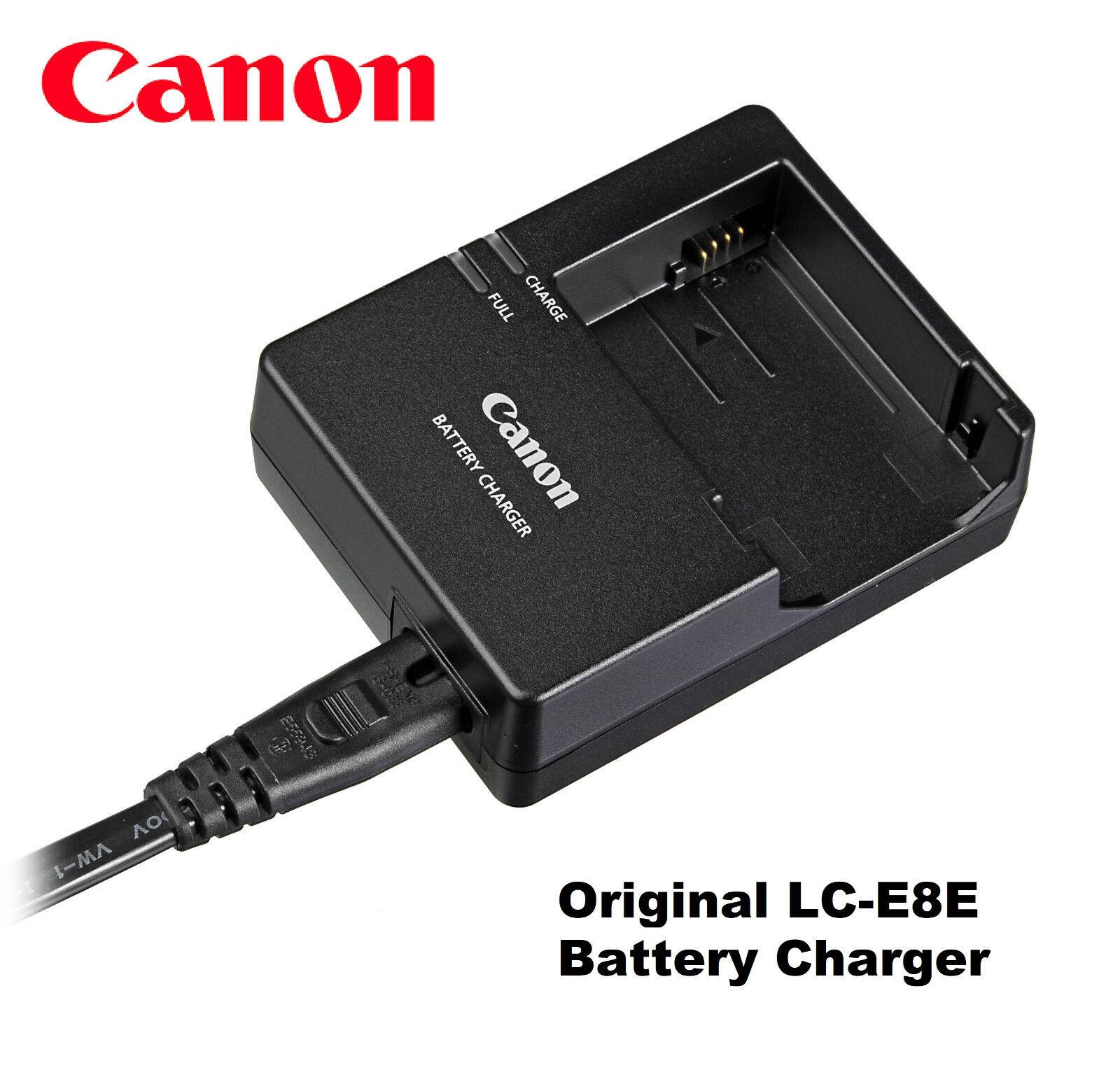 Original OEM Canon EOS Rebel T3i T4i T5i LC-E8 LC-E8E Charger for LP-E8 Battery