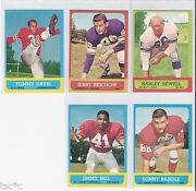 Topps 1963 Football Card Lots