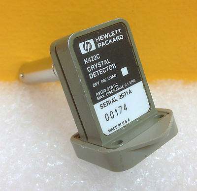 Hp K422c Wr42 18.0 To 26.5 Ghz Negative Output Polarity Diode Detector