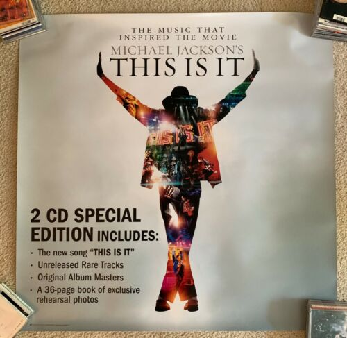 Michael Jackson official 3x3  ft Promotional Poster/print This Is It Movie MJ