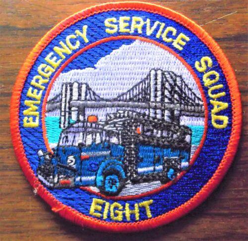 GEMSCO NOS NYPD Vintage Patch POLICE - NYPD ESU Emergency Service SQUAD 8