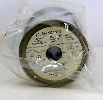 Nos Driver Harris Manganin Resistance Wire 0031 Enameled Silk Single Strand