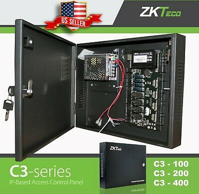 ZK Access Control C3 serie TCP/IP RS485 ZKteco  IP-based Door Panel/w Power. USA Series Access Control