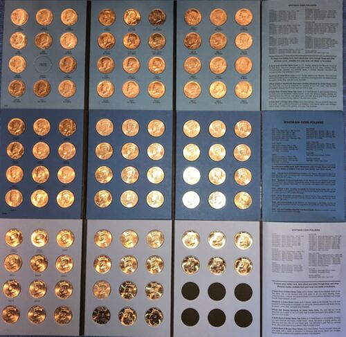 1964-2020 P&D UNCIRCULATED KENNEDY HALF DOLLAR SET (105 Coins) In New FOLDERS