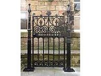 Rusty metal gates and railings treated and repainted