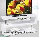 5015 WOOD TV STAND- BLACK OR WHITE- BRAND NEW