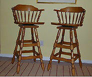 2 Swivel Bar Stools with arms