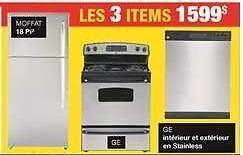 Cuisinière + Frigo + Lave-vaisselle Stainless 1599 $ (Reste 2 en Stock)