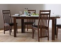 soild oak table and 6 chairs