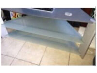 Tv stand in silver grey