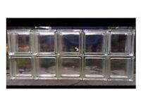10 x clear glass bricks/blocks