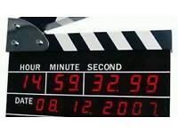 DIGITAL CLAPPERBOARD ALARM CLOCK