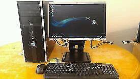 SSD HP Elite Business PC Desktop Computer & HP 19 Rotate Tilt