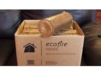 10kg Boxed Ecofire Mechanically Pressed Hardwood Firewood Wood Briquette Eco Logs Highly Efficient