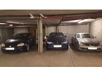 Secured underground car park space in Bow