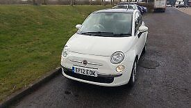 2012 fiat 500 lounge, £30tax, 12months MOT only 30k miles very economical.