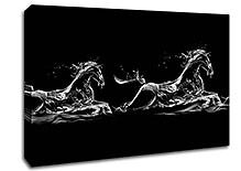 Brand New Canvas Picture - Water Horses