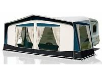 BRADCOT SPORT FULL CARAVAN AWNING **AS NEW USED 2 NIGHTS ! ** SIZE 990 NAVY/GREY