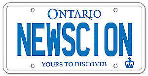 New Scion plate and website.