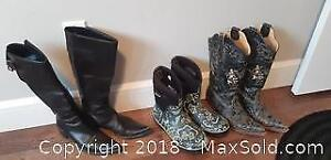 Ladies Leather Boots, Western Boots and Rubber Boots A