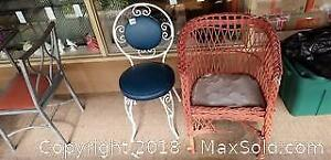 Bistro and Wicker Chairs C