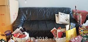Black Leather Couch C
