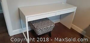 White Desk/Bench and Stool B