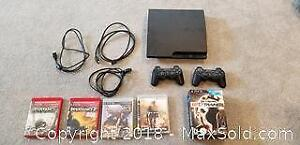 Sony Playstation PS3 with remotes and games