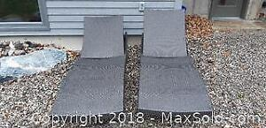 Outdoor Woven Wicker Lounge Chairs A
